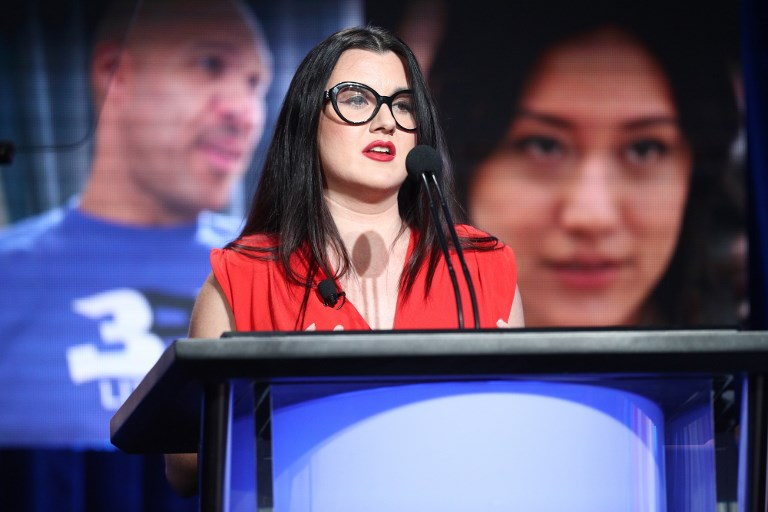 BEVERLY HILLS, CA - JULY 25: Fidji Simo, Director of Product at Facebook, speaks onstage during the Facebook portion of the Summer 2018 TCA Press Tour at The Beverly Hilton Hotelon July 25, 2018 in Beverly Hills, California.   Frederick M. Brown/Getty Images/AFP